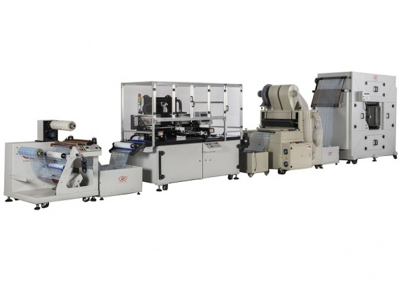Web-fed Roll to Roll Screen Printing Press & Powder Spraying Machine