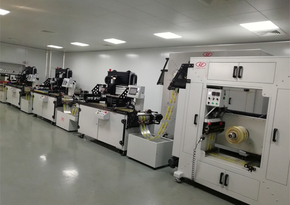 Automatic roll to roll screen printer for printing various labels and stickers