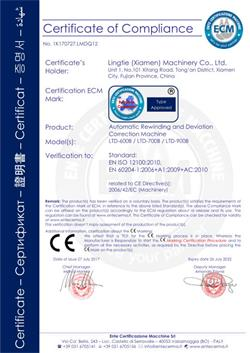 CE Certificate-Rewinding and Deviation Correction Machine